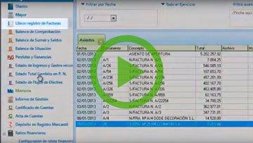 Contabilidad para asesorías. Libro de registro automático